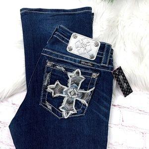 👖NWT I•MISS ME•I Mid-Rise Boot Jeans 26x31👖